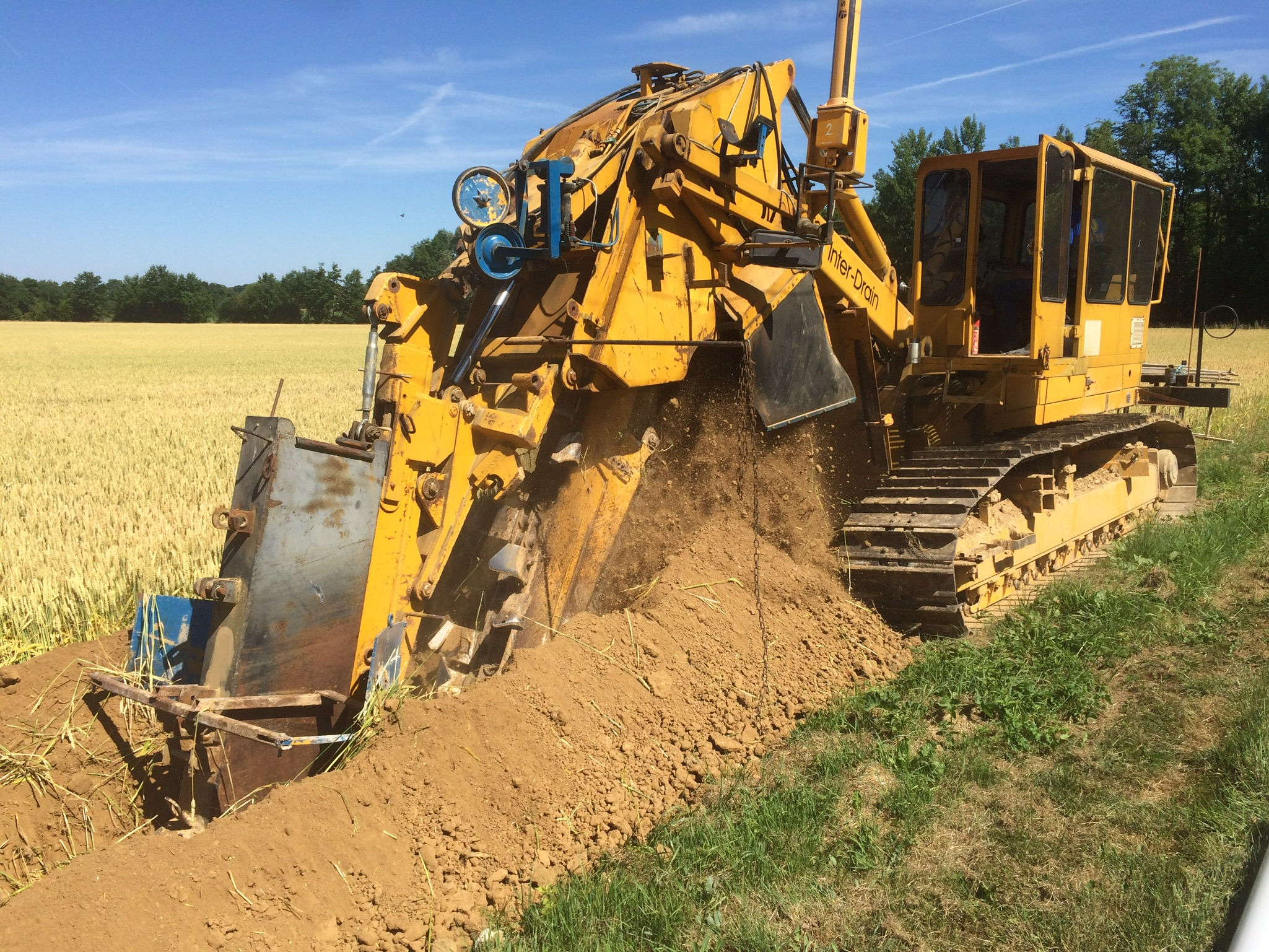 Travaux irrigation  dans l'Aisne
